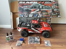 traxxas slash 4x4 ultimate edition roller in vgc with upgrades and just serviced