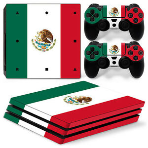 Sony PS4 PLAYSTATION 4 pro Skin Sticker Screen Protector Set - Mexico Motif