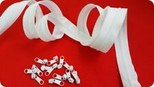 continuous zip chain no 3mm - long zip & sliders upholstery 3,5m & sliders WHITE