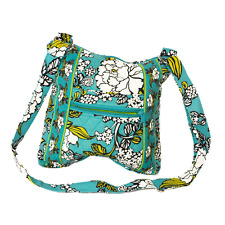 Abbergale's Hipster Cross body Bag New Cotton Quilted in Green Floral