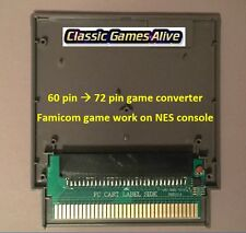 Famicom 60 Pin to NES 72 Pin Adaptor Converter - For NES Game Console (4 COLORS)