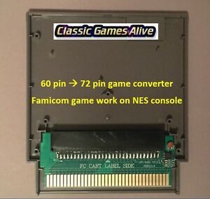 Famicom 60 Pin to NES 72 Pin Adaptor Converter - For NES Game Console (6 COLORS)