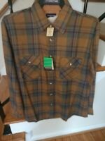 MENS VINTAGE FLANNEL SHIRT SPARE TIME  MONTGOMERY WARDS NWT