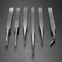 ESD Anti-Static Stainless Steel Tweezers Set Maintenance Electronic Jewellery