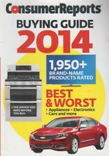 Consumer Reports Buying Guide for 2014 Best & Worst 1950+ Products Rated