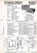 Manuel d'instructions service pour Philips ND 551 V, Paladin 551