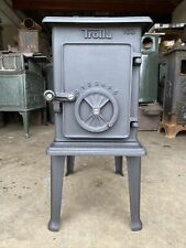 Trolla 103 Classic Cast Iron Wood Burning Stove Black Finish Top Flue Exit