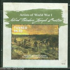 TUVALU 2015 ARTISTS OF WORLD WAR I  ALFRED THEODORE BASTIEN  S/SHEET MINT NH