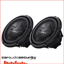 """Pioneer TS-W261D4 x 2 10"""" Inch Car Bass Sub Subwoofers 2400W Twin Subs"""