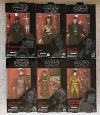 Star Wars Black Series Rise of Skywalker Bundle Finn, DJ, Maz Kanata, Jannah