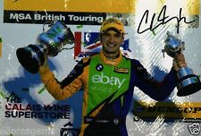 "British Touring car Colin Turkington main signé eBay AUTO-MOTO BMW 12x8"" BTCC AC"