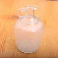 Vintage Glass Cruet Bottle Pour Spout March 16 1909 Pint Sized