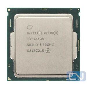 Intel Xeon E3-1240 V5 3.5 GHz 8MB 8GT/s SR2LD LGA1151 B Grade CPU Processor
