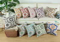 "Dahlia Florals Compass Geometric Cushion Covers Pillows Shells Home Decor 20x20"""