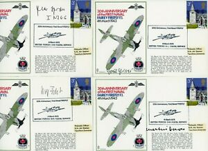 4 RARE FDCs - LUFTWAFFE -  WW2 - KNIGHTS CROSS AWARDED - SIGNED