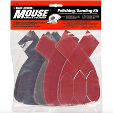BLACK+DECKER Mouse Sanding Polishing Pad Kit 13 Piece Sandpaper Sander Foam Pads