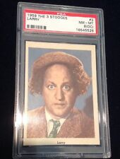 1959 FLEER THREE STOOGES  LARRY  CARD #3 PSA GRADED 8 NM-MT  OC   Pack Fresh Gem