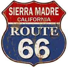 SIERRA MADRE, CALIFORNIA Route 66 Shield Metal Sign Man Cave Garage 211110013064