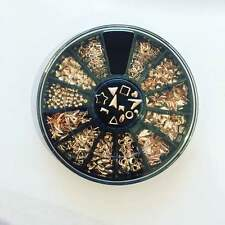 ROSE GOLD japanese metallic nail studs charms wheel 3D nail art design x 600 pcs