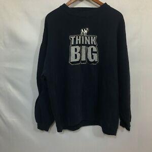 Vintage Big Dogs Mens Black Long Sleeves Think Big Graphic Sweatshirt Size XL