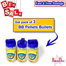 6000 Pcs 6mm BB Pellets Bullets For BB Guns, Plastic Toys (Silver Clr) Pack Of 3