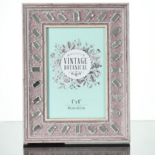 Pretty Pink Picture Frame- Great Gift  Shabby Chic Mirrored Dusty Rose