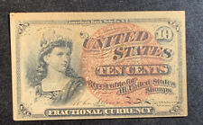 1863 US 10 Cents Fractional Currency