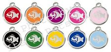 Fish Enamel/Solid Stainless Steel Engraved ID Cat Tag