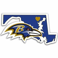 NFL Baltimore Ravens Home State Auto Car Window Vinyl Decal Sticker