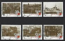 NEW ZEALAND 2009 ANZAC LEST WE FORGET SET OF 6 FINE USED