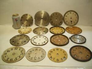 (16) Vtg/Antique CLOCK FACES Arts/Crafts Steampunk/Altered Art Parts/Mantle/Dial