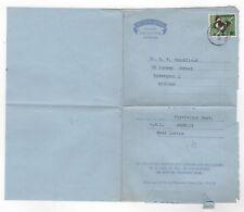 1964 JAMAICA Aerogramme Cover MONA to LIVERPOOL GB SG223 Butterflies