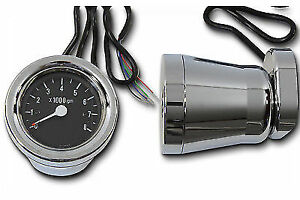 60mm Electric Tachometer Housing Kit for Harley Davidson by V-Twin