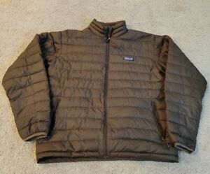 Mens Patagonia Down Sweater Jacket Brown - Medium