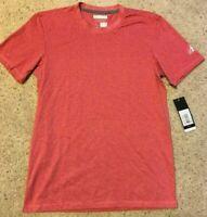 Adidas Men's ClimaCool AeroKnit Short Sleeve T-Shirt 4878 Power Red Sz S-2X $32