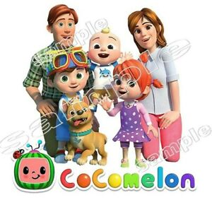 Cocomelon  IRON ON TRANSFER - T-shirt outfit  Birthday Decoration kids