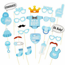 25PCS Baby Shower Photo Booth Props Little Boy Mini Mister New Born Party