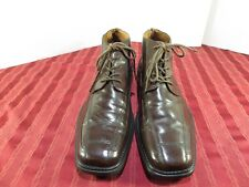 Zengara Brown Leather Lace Up  Dress Formal Oxfords Shoes/Boots Men Size 10M
