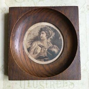 Cadre Gravure Femme mesurant la Terre XIXè - Victorian Frame