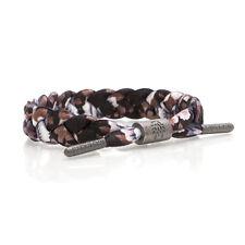 Rastaclat Lotus Multi Brown Black White Braided Shoelace Bracelet RC001LTUS