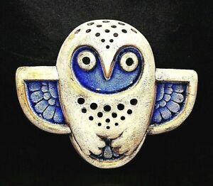 Ceramic Figurine Mural Owl Bird Art Wall Décor Decoration Sculpture Statuette
