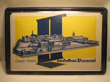 Bier Brauerei Reklame Blechschild Landskron Brauerei