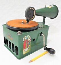 RARE GENOLA VINTAGE GRAMOPHONE PHONOGRAPH 78 RPM RECORD PLAYER TABLE TOP