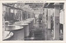 Postcard Interior of Cheese Factory Monroe WI