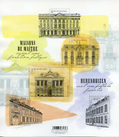 Belgium 2018 MNH Splendid Belgian Mansions 5v M/S Houses Architecture Stamps