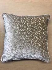 STYLE FURNISHING Beige Velvet Textured Cushion, 45x45 cm, Feather Filled Insert