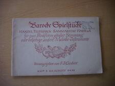 F.J. Giesbert Noten Barocke Spielstücke für zwei Blockflöten Händel Schott 1936