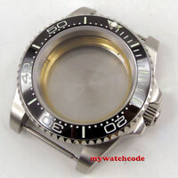40mm sapphire glass black ceramic bezel Watch Case fit 2824 2836 8215 MOVEMENT