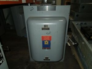 Square D 82344 E1 200A 3P 600VAC Double Throw Not Fusible Manual Transfer Switch