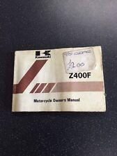 Kawasaki Z400f Owners Manual